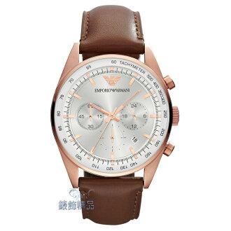 【錶飾精品】ARMANI手錶 亞曼尼表 優雅紳士 三眼計時 日期 咖啡皮帶男錶 AR5995 全新正品 情人 生日禮物