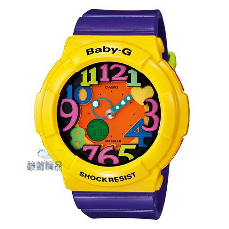 【錶飾精品】現貨BABY-G卡西歐CASIO多彩霓虹立體數字刻度 BGA-131-9BDR黃x紫BGA-131-9B 全新原廠正品 生日 情人節 禮物 禮品