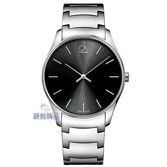 【錶飾精品】Calvin Klein 凱文克萊 CK 瑞士製 經典時尚錶款 釘字時標刻度 黑面 大 K4D21141 全新原廠正品