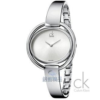【錶飾精品】CK WATCH/CK錶/CK手錶/Calvin Klein 時尚優雅 白面 鍊帶女表K4F2N116全新正品