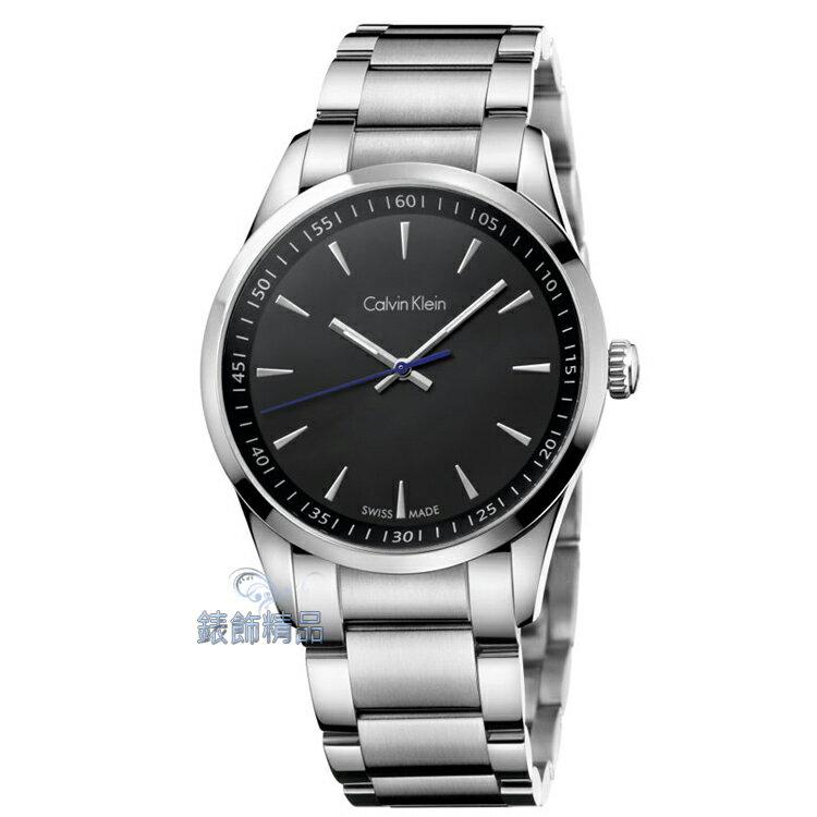 【錶飾精品】CK手錶 bold系列 經典藍指針設計 黑面 鋼帶男錶 K5A31141 全新原廠正品 生日 情人禮物