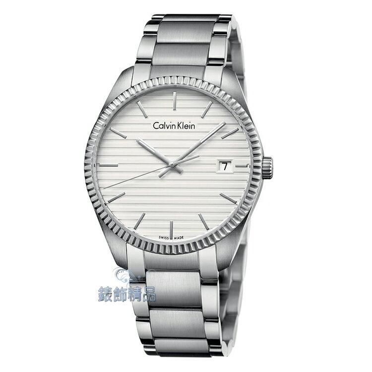 【錶飾精品】CK手錶 alliance摯愛光年系列 線性建築設計 藍寶石玻璃男表 K5R31146 白面 生日情人禮品