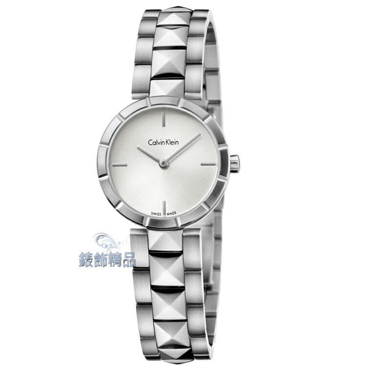 【錶飾精品】CK手錶 Calvin Klein edge邊緣系列 女表 K5T33146 白 全新原廠正品 情人生日禮物