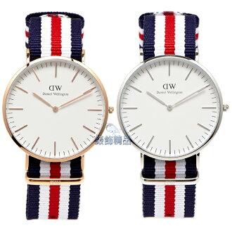 【錶飾精品】瑞典DW手錶 DW00100002金 0202DW銀 Canterbury 40mm 尼龍