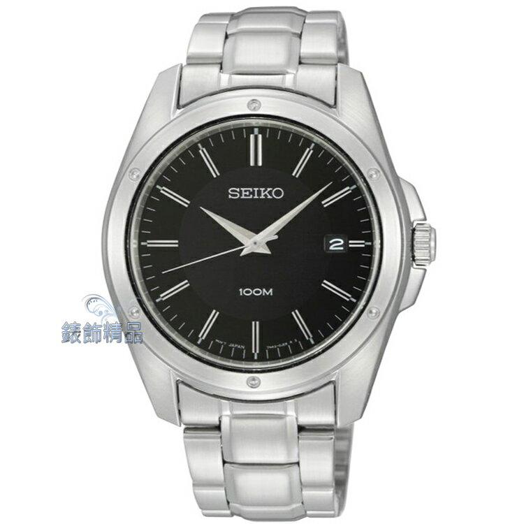 【錶飾精品】SEIKO手錶 SEIKO錶 精工表 防水 黑面日期男錶 SGEF81P1全新原廠 SGEF81正品