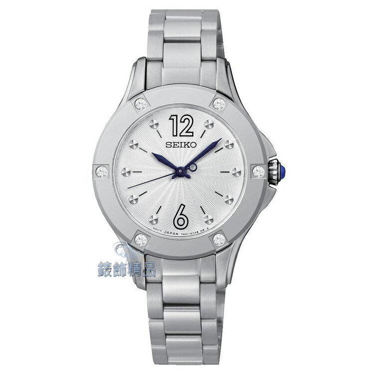 【錶飾精品】SEIKO錶 時尚淑女錶 白面鋼帶 SRZ421P1 施華洛世奇水鑽 SRZ421情人生日禮物 全新原廠正品