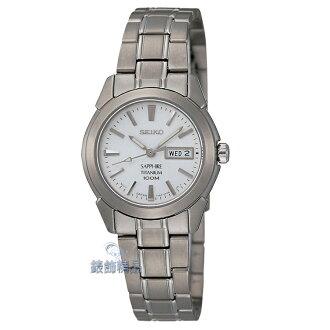【錶飾精品】SEIKO錶 白面 水晶玻璃 鈦金屬超輕時尚淑女錶 SXA111 鋼帶 SXA111P1 全新原廠正品