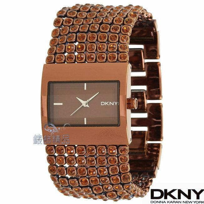 【錶飾精品】DKNY WATCH/DKNY手錶/DKNY錶晚宴派對/咖啡金女鍊錶 NY8396