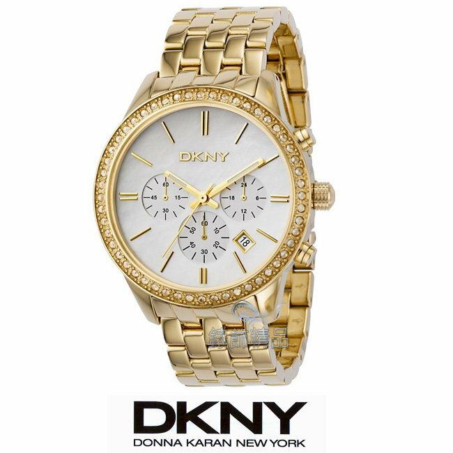 【錶飾精品】DKNY WATCH/DKNY手錶/大錶徑晶鑽珍珠貝錶盤女錶 NY4843全新原廠正品