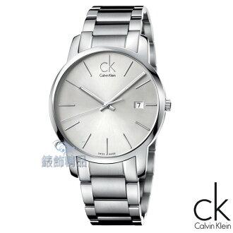 【錶飾精品】CK錶 CK手錶 新款 都會時尚 白面日期鋼帶男錶K2G2G146全新原廠正品 禮物