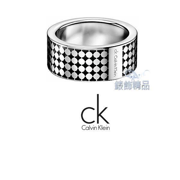 【錶飾精品】Calvin Klein/CK JEWELRY/CK飾品/ck戒指菱格紋/316L白鋼KJ71AR0101全新原廠正品