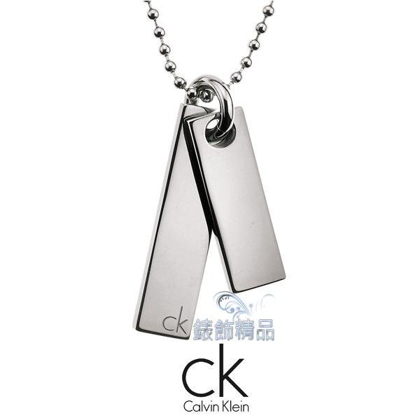 【錶飾精品】Calvin Klein/CK飾品/ck項鍊hook男性系列/316L白鋼KJ06BN010100全新正品