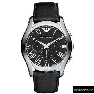 【錶飾精品】ARMANI手錶 亞曼尼表 計時碼錶 日期 黑面黑皮帶男錶AR1700 禮物