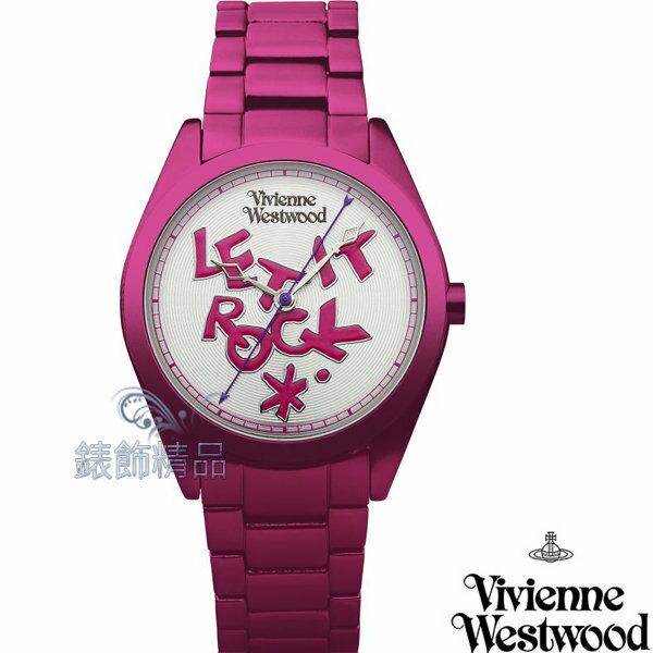 【錶飾精品】Vivienne Westwood 英倫時尚腕錶 手錶 LET IT ROCK 桃紅色錶帶VV072SLPK 原廠正品 禮物