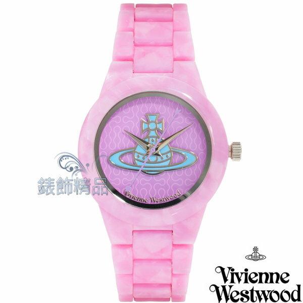 ~錶飾 ~Vivienne Westwood 英倫 腕錶 手錶 星球 粉紅色錶帶VV075