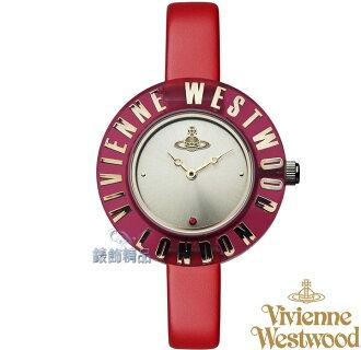 【錶飾精品】Vivienne Westwood 英倫時尚腕錶 星球 壓克力透明錶框 紅色細皮帶VV032RD原廠正品 禮物