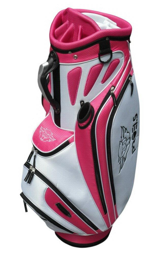 高爾夫球袋cartbag9.5英吋PROELS 豪華III高爾夫球袋(紅/白)