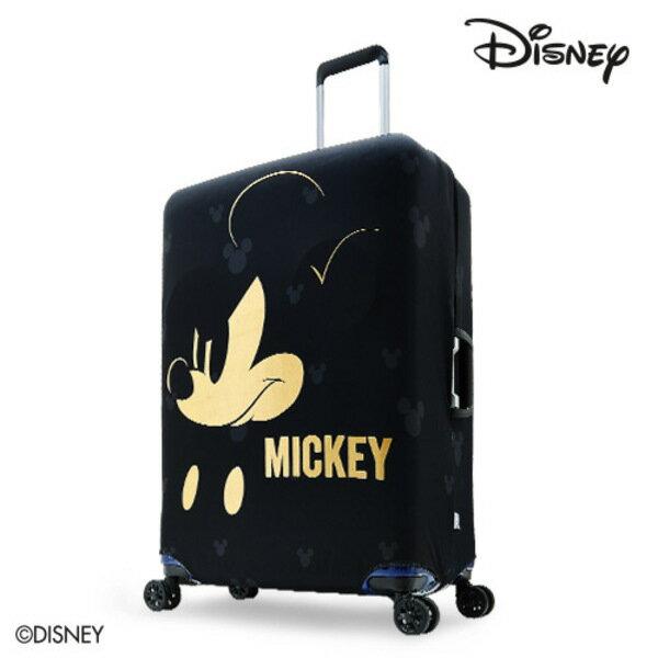 【加賀皮件】DESENO DISNEY 迪士尼 米奇MICKEY 彈性箱套 行李箱套 行李保護套 M號 搖滾燙金 B1129-0005