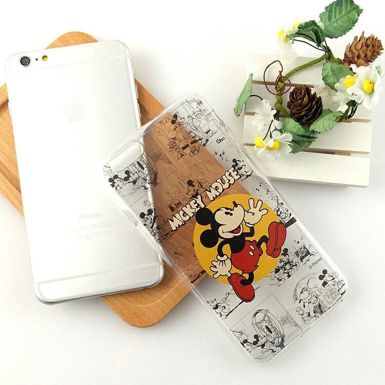 【Disney】iPhone6plus彩繪90週年透明保護軟套-90週年米奇 0