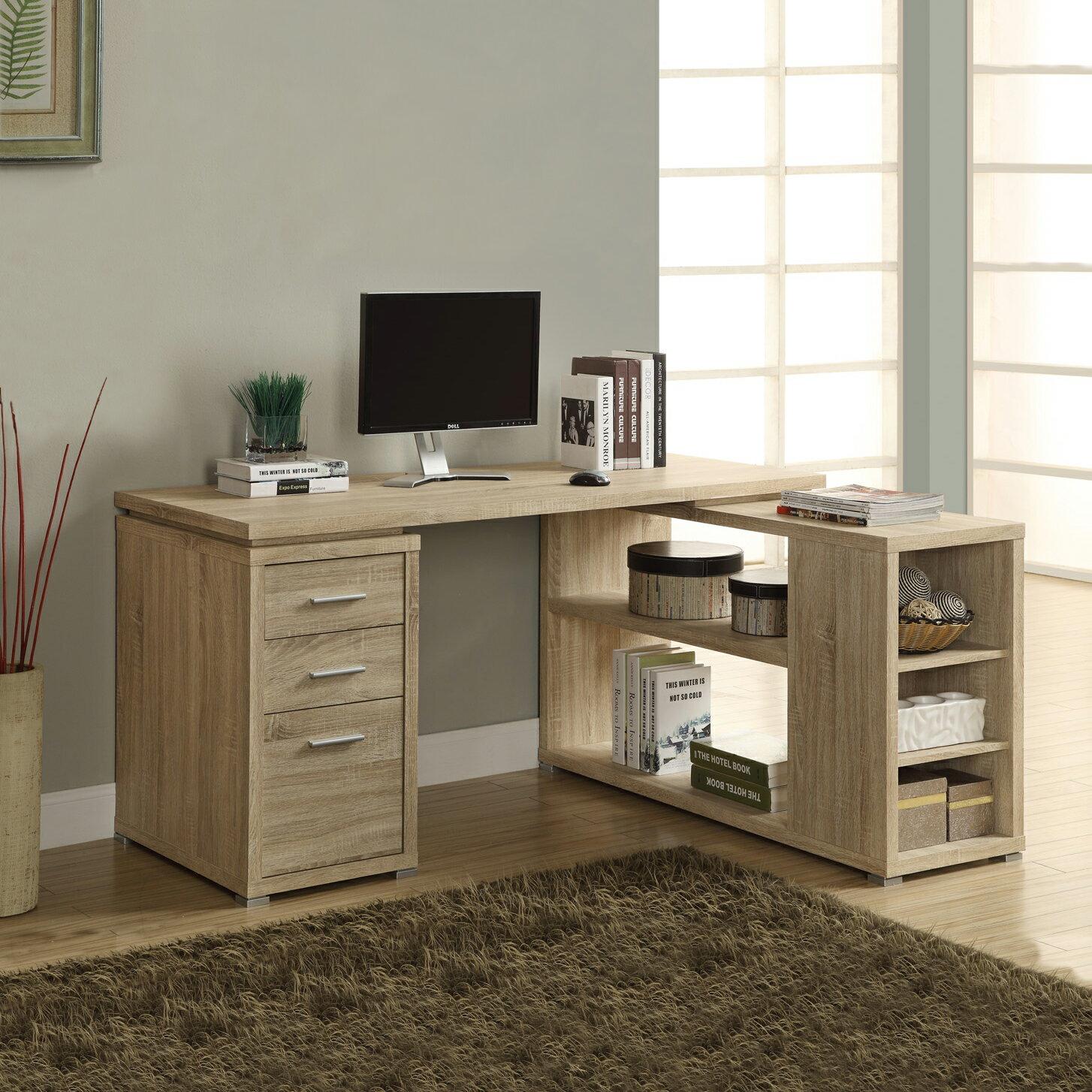 複合式電腦書桌   淺木色    書桌   辦公桌  電腦桌   工作桌   DIY 傢俱