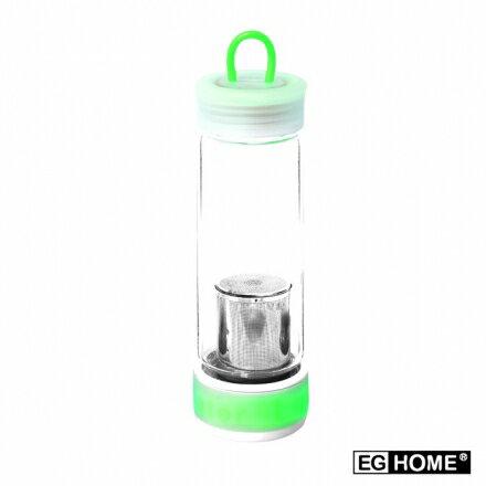 EG Home 宜居家 附濾網 魔立 炫彩不倒瓶不倒杯 玻璃 隨身瓶 水壺 泡茶杯 350