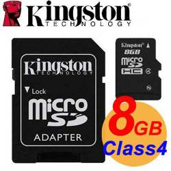 Kingston 金士頓 8GB microSDHC TF Class4 記憶卡 SDC4/8GB