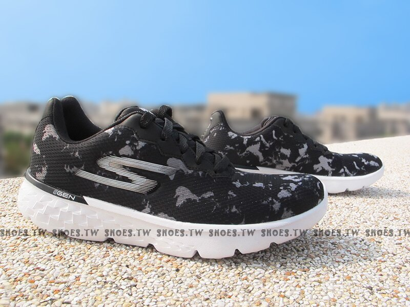 Shoestw【14352BKW】SKECHERS 慢跑鞋 GO RUN 400 黑渲染 慢跑 健走鞋 女生