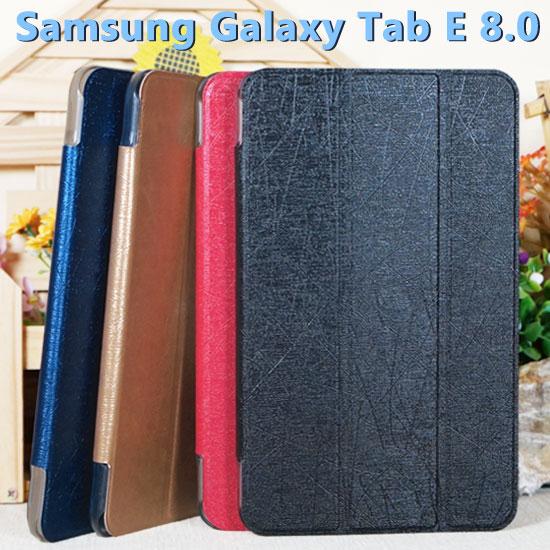 【超薄三折】三星 SAMSUNG Galaxy Tab E 8.0 T377/SM-T3777 專用平板側掀皮套/翻頁式平板保護套/保護殼/立架展示