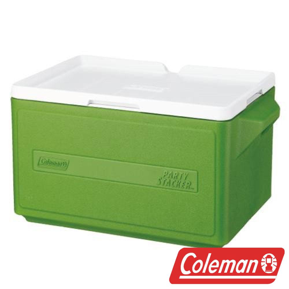 【美國Coleman】 31L置物型冰桶-綠 CM-1331J 露營 冰桶 保冷 保溫 保冰