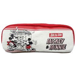 【日本進口正版】米奇 Mickey 帆布 立體 筆袋 鉛筆盒 迪士尼 Disney - 830859