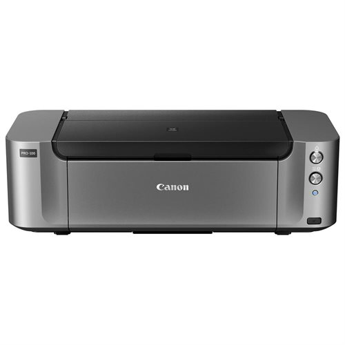 Canon PIXMA Pro Pro-100 Inkjet Printer - Color - 4800 x 2400 dpi Print - Photo/Disc Print - Desktop - 2 ipm Color Print (ISO) - 51 Second Photo - 170 sheets Standard Input Capacity - Ethernet - Wireless LAN - USB - PictBridge 0