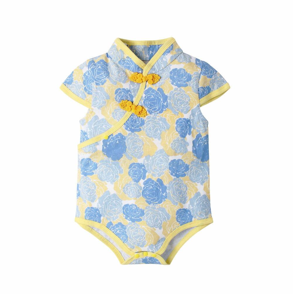 Augelute Baby 斜襟漂亮花朵短袖包屁衣 60321 4
