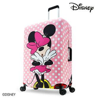 【加賀皮件】DESENO DISNEY 迪士尼 米妮MINNIE 可愛點點 彈性箱套 行李箱套 行李保護套 M號 粉嫩泡泡 B1129-0005