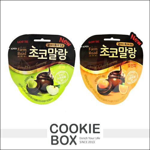 韓國 LOTTE 田園 巧克力球 48g 柑橘 蘋果 夾心 限定 口味 軟Q *餅乾盒子*