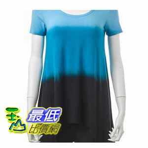 [COSCO代購 如果沒搶到鄭重道歉] Grace Knitwear 女短袖長版上衣 深藍色 W87390-DBL