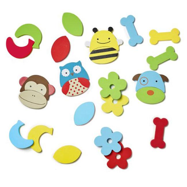 【499折50】美國SKIP HOP 可愛動物園混搭海棉夥伴/洗澡玩具