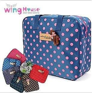 =優生活=最新款 韓國正貨WingHouse小熊點點電腦包 媽媽包 手提包 旅行包 中號尺寸