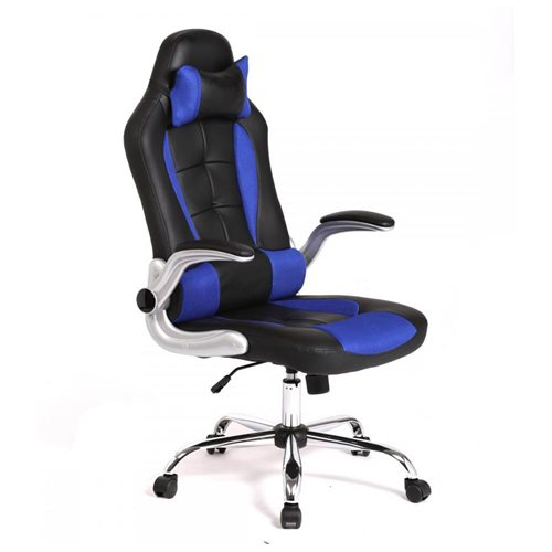 Blue High Back Racing Car Style Bucket Seat Office/Gaming Chair Gaming Chair 0  sc 1 st  Rakuten.com & Factory Direct: Blue High Back Racing Car Style Bucket Seat Office ...