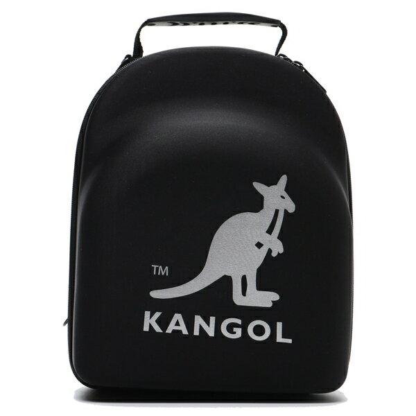 KANGOL 黑 3MLOGO 立體硬殼後背包 後背包 素色 帽盒 (布魯克林) 6025320420