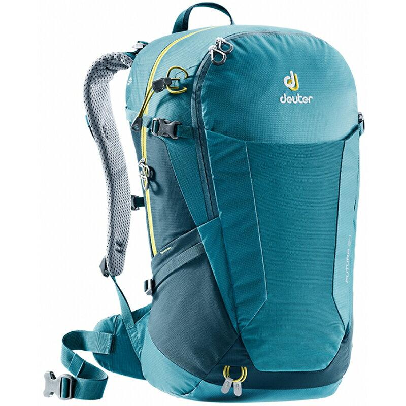 【露營趣】送手電筒 德國 deuter 3400118 FUTURA 24L 湖綠/藍 透氣網架背包 登山背包 健行背包 旅行背包 自行車背包