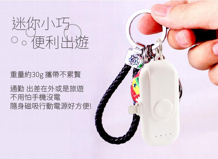 手指磁吸行動電源 隨行充 手指行動電源 磁吸充電器 行動充 隨身充 無線便攜充電 【AB111】 3