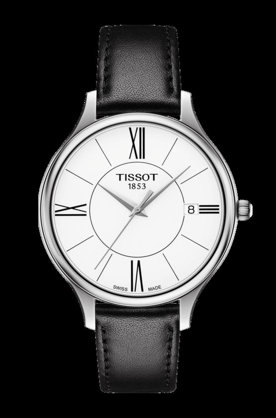 TISSOT 天梭 T1032101601800 BELLA ORA 皮帶石英女腕錶 38mm 1