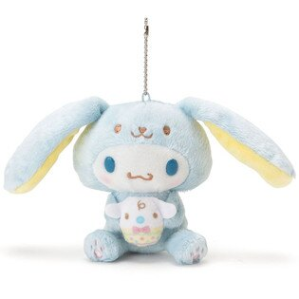 X射線【C377420】大耳狗Cinnamoroll造型玩偶吊鍊-長耳兔,絨毛填充玩偶玩具公仔鑰匙圈吊飾玩偶包包吊飾