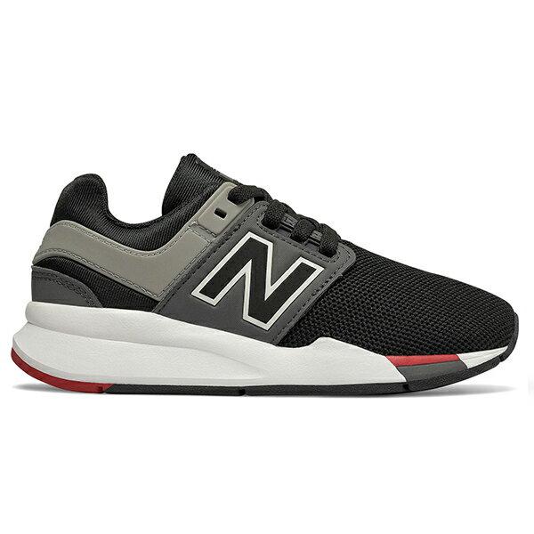 Shoestw【PH247FB】NEW BALANCE NB247 中童鞋 運動鞋 鬆緊帶 免綁帶 襪套 Wide 網布 黑灰紅 0