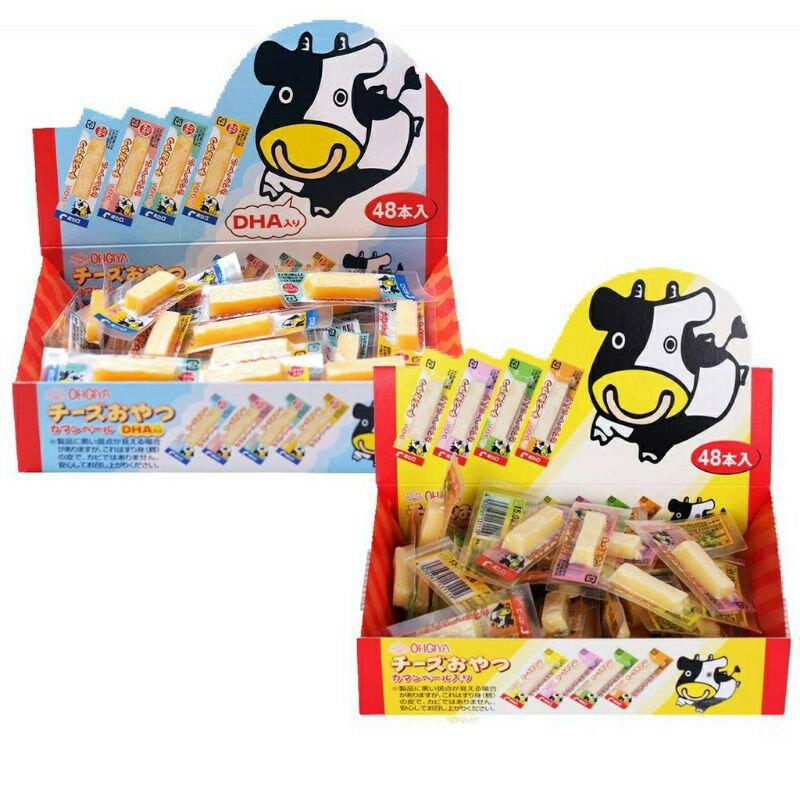 日本 OHGIYA 扇屋 原味 DHA 鱈魚起司條 獨立包裝 48入 孕婦小孩補充鈣質