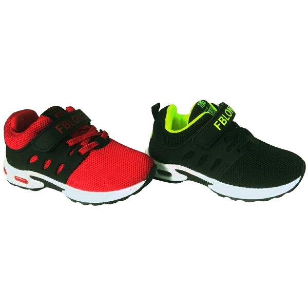 巷子屋:【巷子屋】男女童亮色透氣運動慢跑鞋[66033]黑綠紅超值價$388【單筆消費滿1000元全會員結帳輸入序號『CNY100』↘折100】