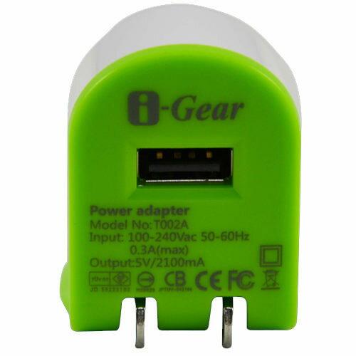 <br/><br/>  [NOVA成功3C] I-Gear 艾吉爾 2100mAh USB 充電器(綠/白) - T002A-GW喔!看呢來<br/><br/>