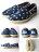 [女款] 國外代購TOMS 帆布鞋/懶人鞋/休閒鞋/至尊鞋 亞麻系列 深藍星星網孔亞麻底 2