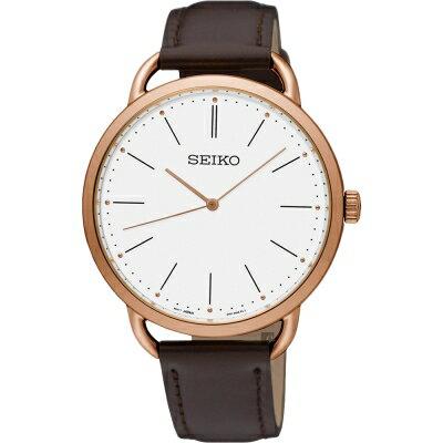 大台中時計SEIKO精工 城市型男超薄腕錶 SUR234P1/38mm