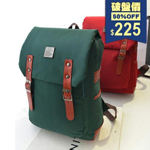 後背包-英倫復古學院風電腦休閒帆布包 包飾衣院 P1663 現貨